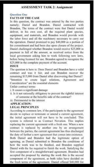 enterprise law assignment sample