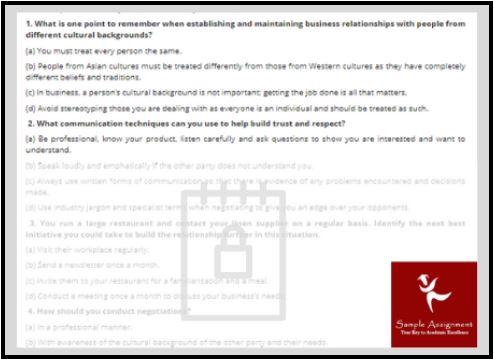 establish business assignment online