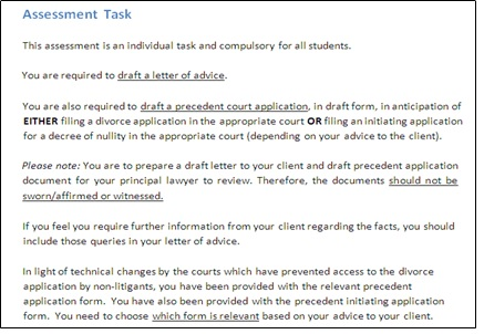 family law academic assistance through online tutoring assessment
