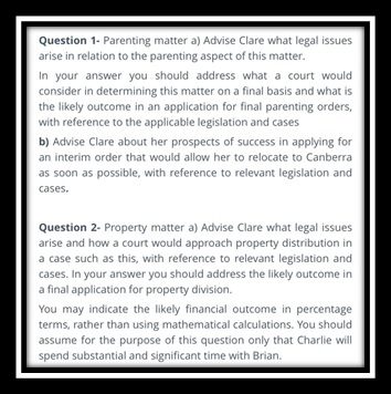 family law assignment sample question
