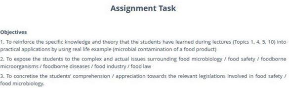 food microbiology coursework help online
