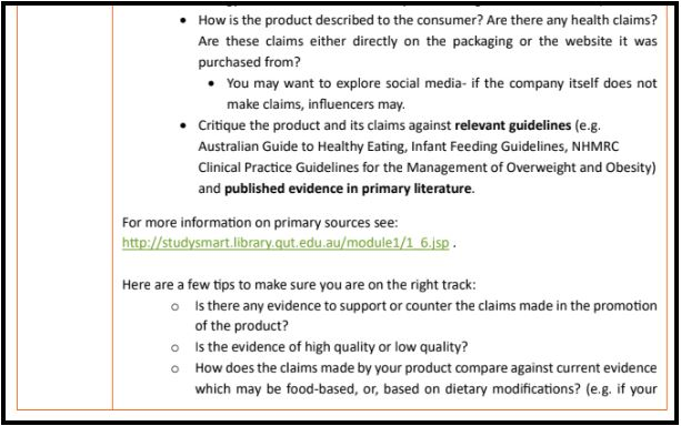 food science assignment sample online