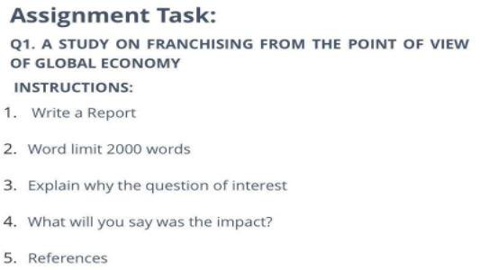 franchising homework sample