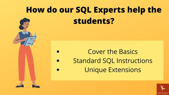 how do our sql experts help the students