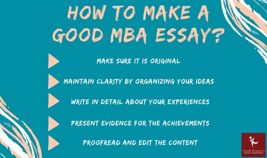 how to make a good mba essay