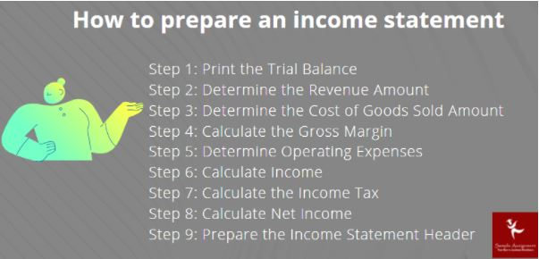 income statements assignment