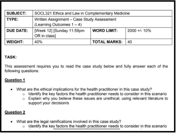 integrative complementary medicine report writing sample