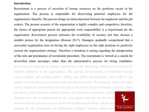 international hr management assignment sample introduction