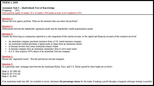 international management assignment sample online