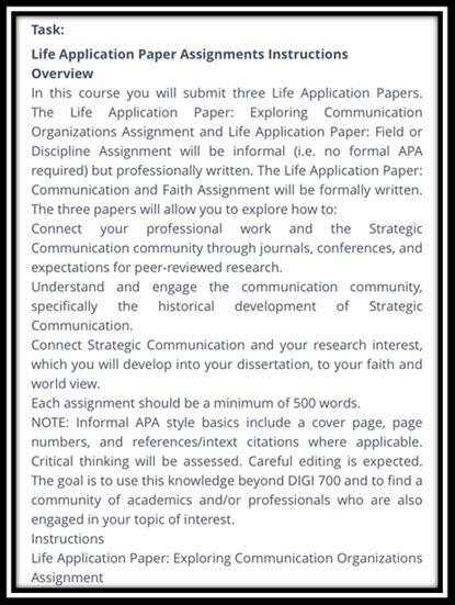 journalism academic assistance through online tutoring task overview