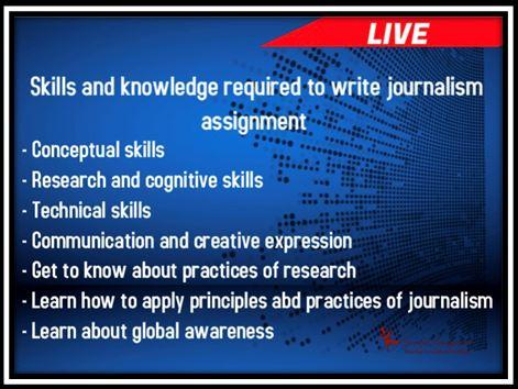 journalism academic assistance through online tutoring