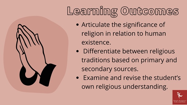 learning outcomes of comparative religions academic assistance through online tutoring