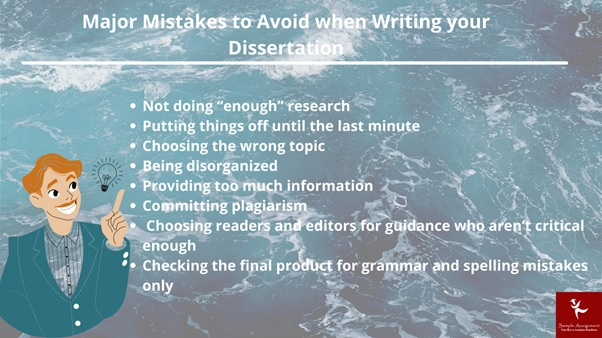 major mistakes to avoid when writing your dissertation