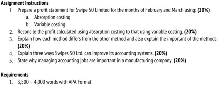 managerial accounting assignment question answer