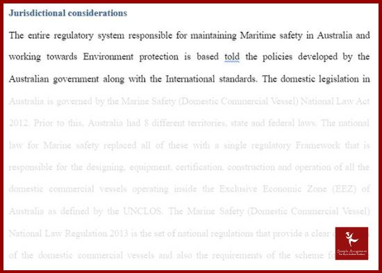 maritime law assignment sample online