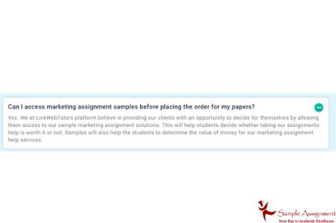 marketing assignment samples