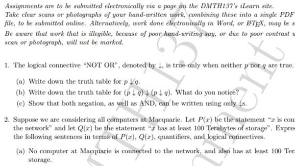 mathematics assignment sample