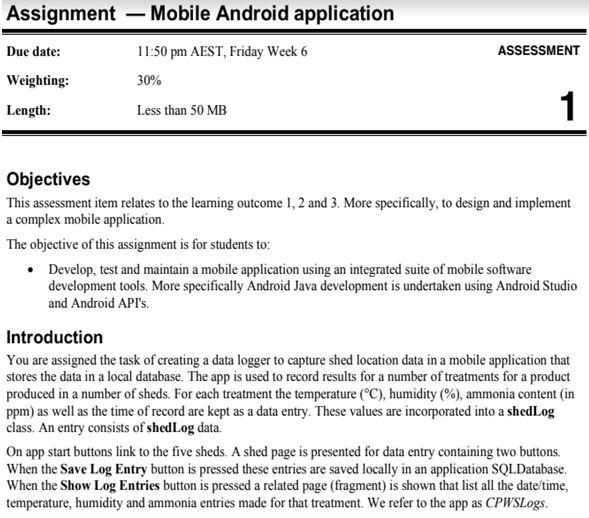 mobile app development homework help