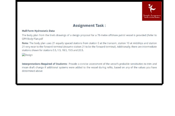 naval architecture assignment sample task