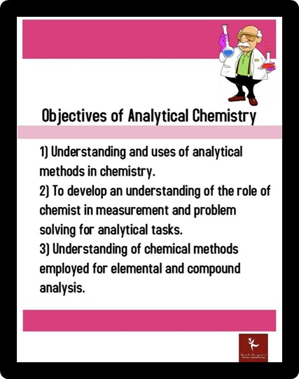 objectives of analytical chemistry
