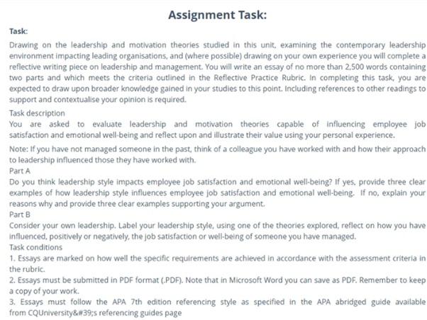 online century leadership assignment sample task