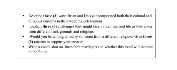 online comparative religions assignment sample question