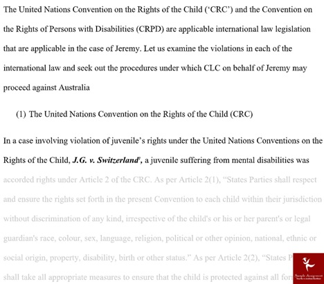 online human rights law dissertation sample solution