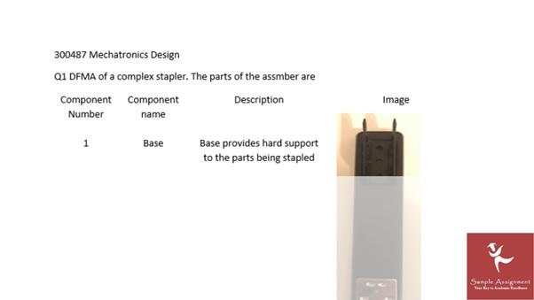 online mechatronics design assignment sample services