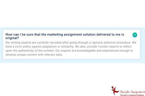 original marketing assignment solution