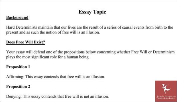 philosophy sample essay topic online