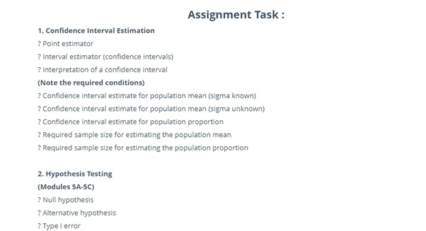power and confidence intervals sample assignment task