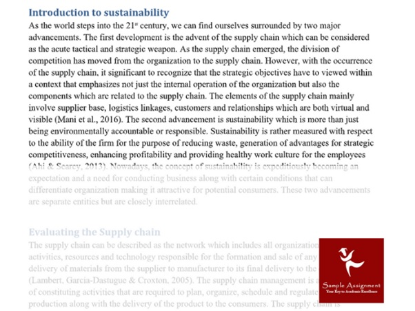 sample introduction to sustainability