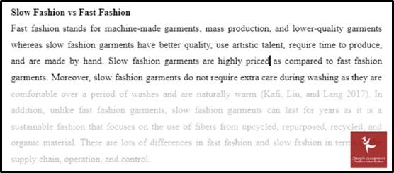 slow fashion vs fast fashion sample