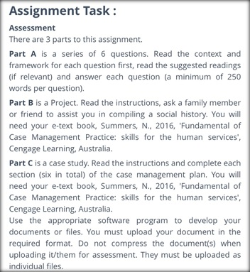society management sample assignment task