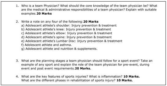 sports science Homework Help specimen