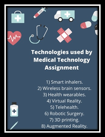 technologies used by medical technology assignment
