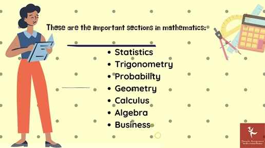 these are the important sections in mathematics
