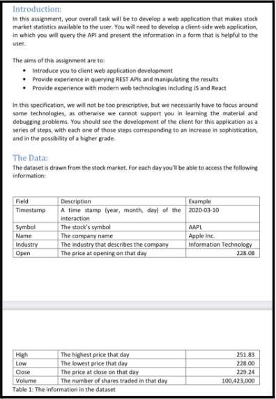 web application development assignment sample