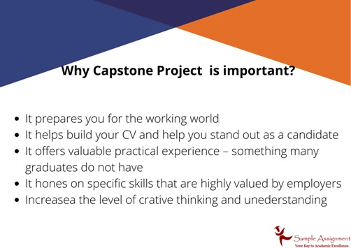 why capstone project is important