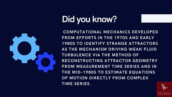 Computational Mechanics fact