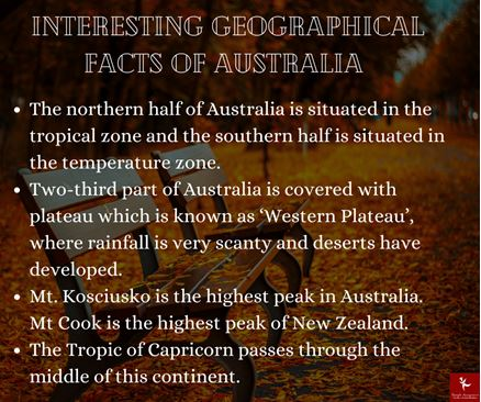 Geographical fact of australia