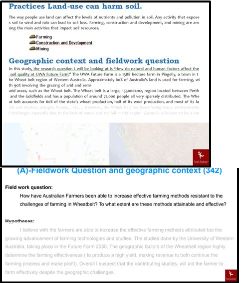 Geography Academic Assistance through Online Tutoring Question Answer