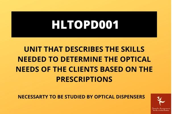 HLTOPD001 importance
