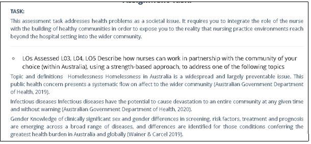 NRSG371 Building Healthy Communities Task