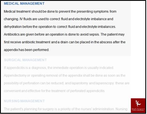 appendicitis appendectomy case study help solution