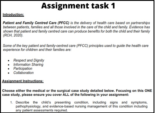 appendicitis appendectomy case study assignment sample