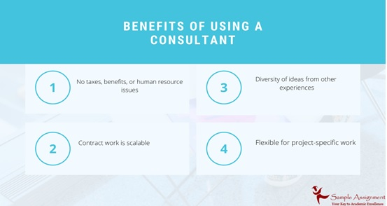 benefits of using consultant