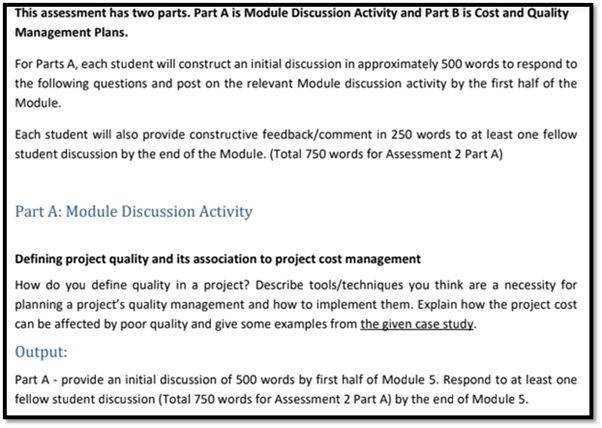 cost planning assignment sample
