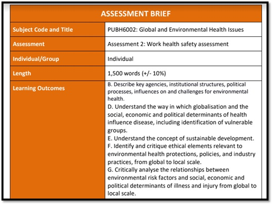 environmental health and safety law academic assistance through online tutorings