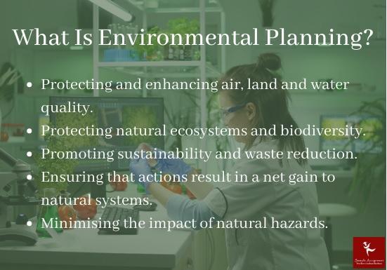 environmental planning academic assistance through online tutoring
